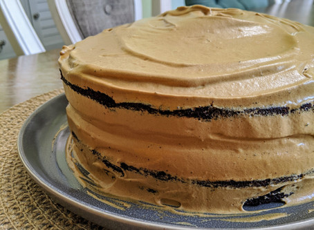 Chocolate Coffee Cake with Dalgona Coffee Frosting