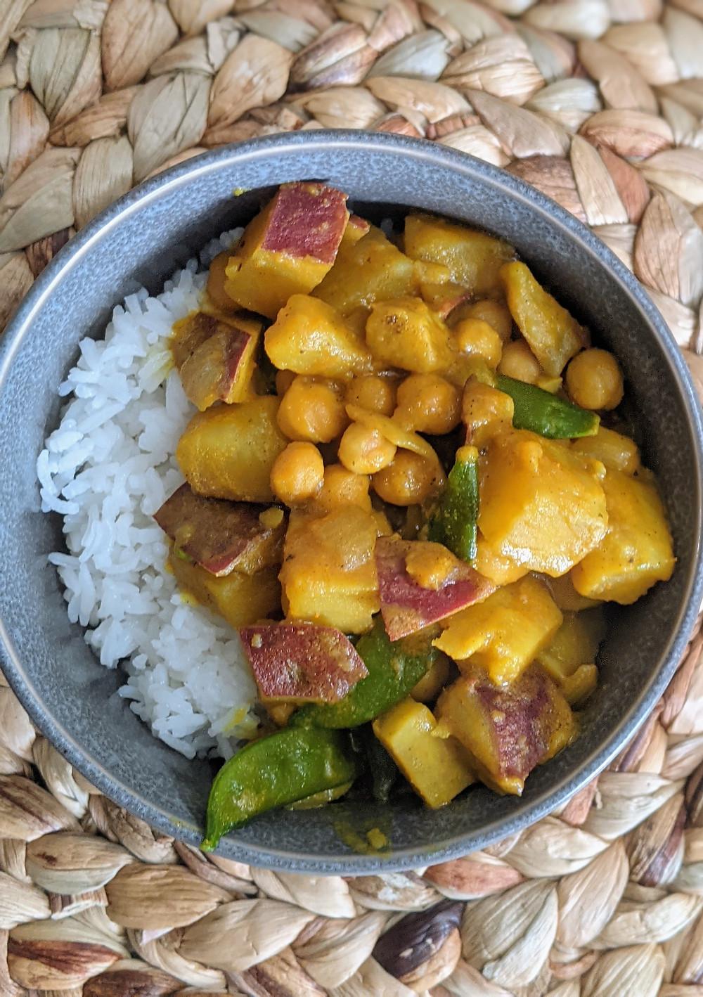 Peanut Butter Chickpea and Sweet Potato Curry - amanda macgregor - joseph centineo - food allergy recipes