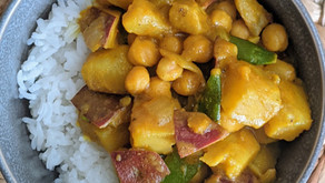 Peanut Butter Chickpea and Sweet Potato Curry
