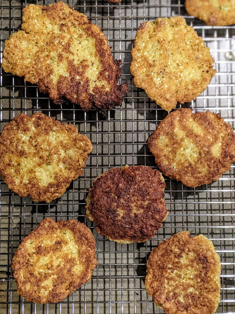 Gluten-Free and Vegan Cauliflower Hash Browns - amanda macgregor - joseph centineo - food allergy recipes