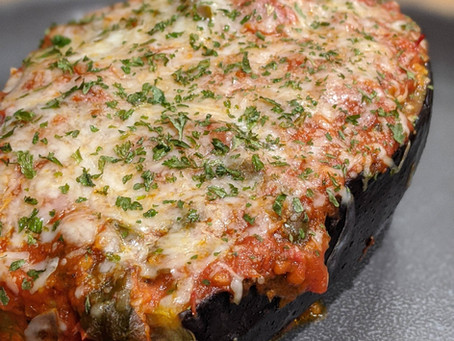 The Sunday Cookbook: Baked Stuffed Eggplant with Sausage