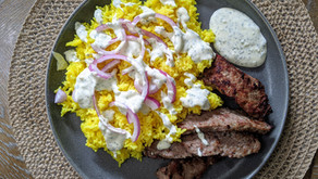 The Sunday Cookbook: Lamb over Rice with White Sauce and Gluten-Free Pita Bread
