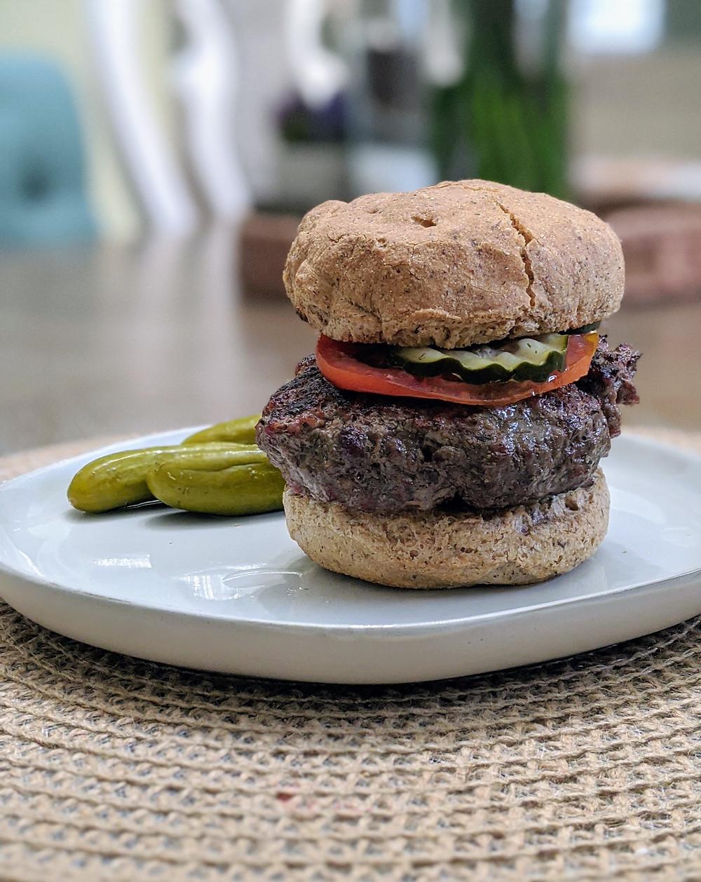 Building a perfect food allergy-friendly burger - Amanda MacGregor - food allergy recipes