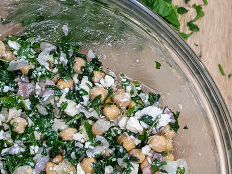 Our Mediterranean Parsley and Feta Chickpea Salad