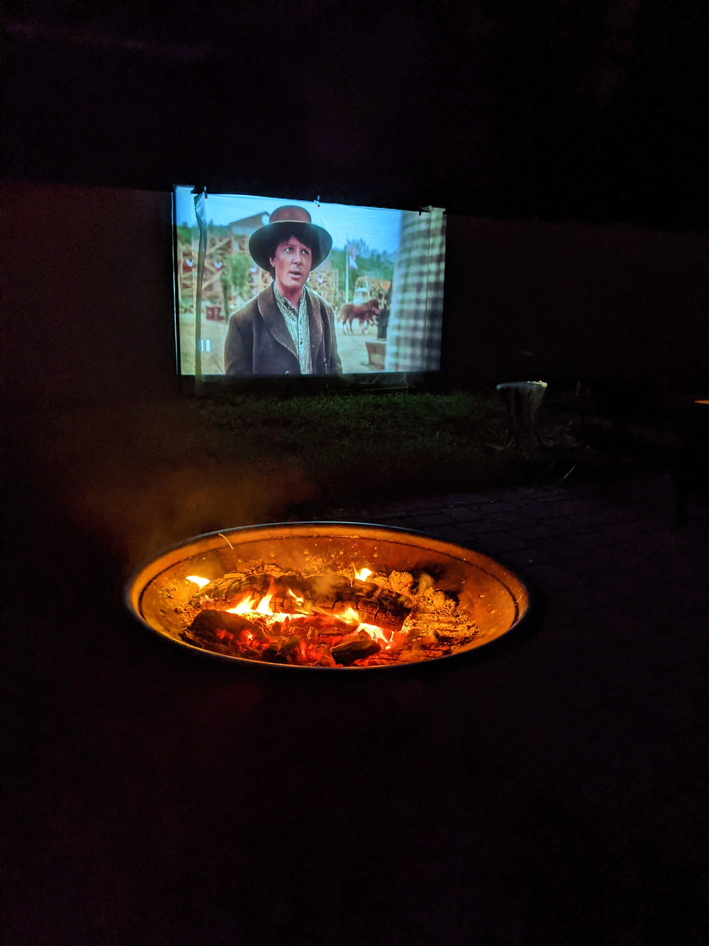 Outdoor Movie - Our At-Home Date Night Game - Amanda MacGregor - joseph Centineo