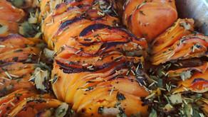 Shingled Rosemary Sweet Potatoes