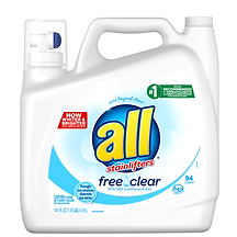 All Free Clear detergent - MacGregor