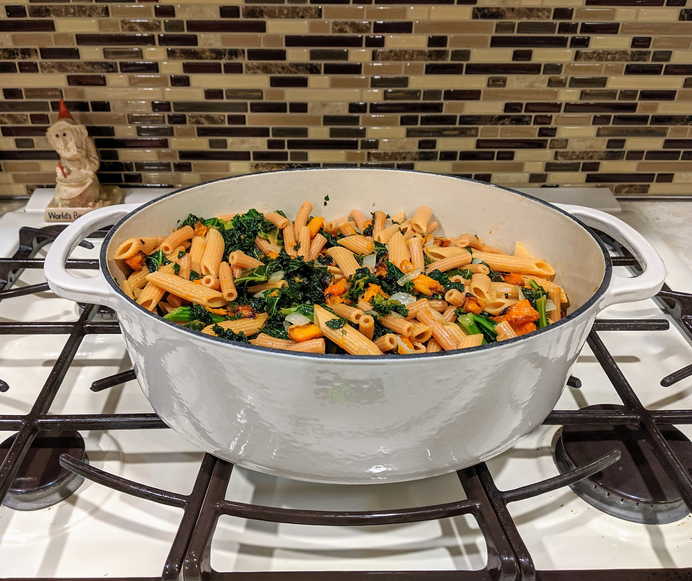 Lentil Pasta with Butternut Squash and Veggies - The Sunday Cookbook - Food Allergy Recipes - Joseph Centineo - Amanda MacGregor