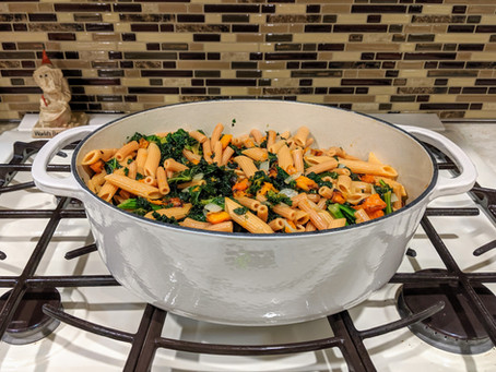 The Sunday Cookbook: Lentil Pasta with Butternut Squash and Veggies
