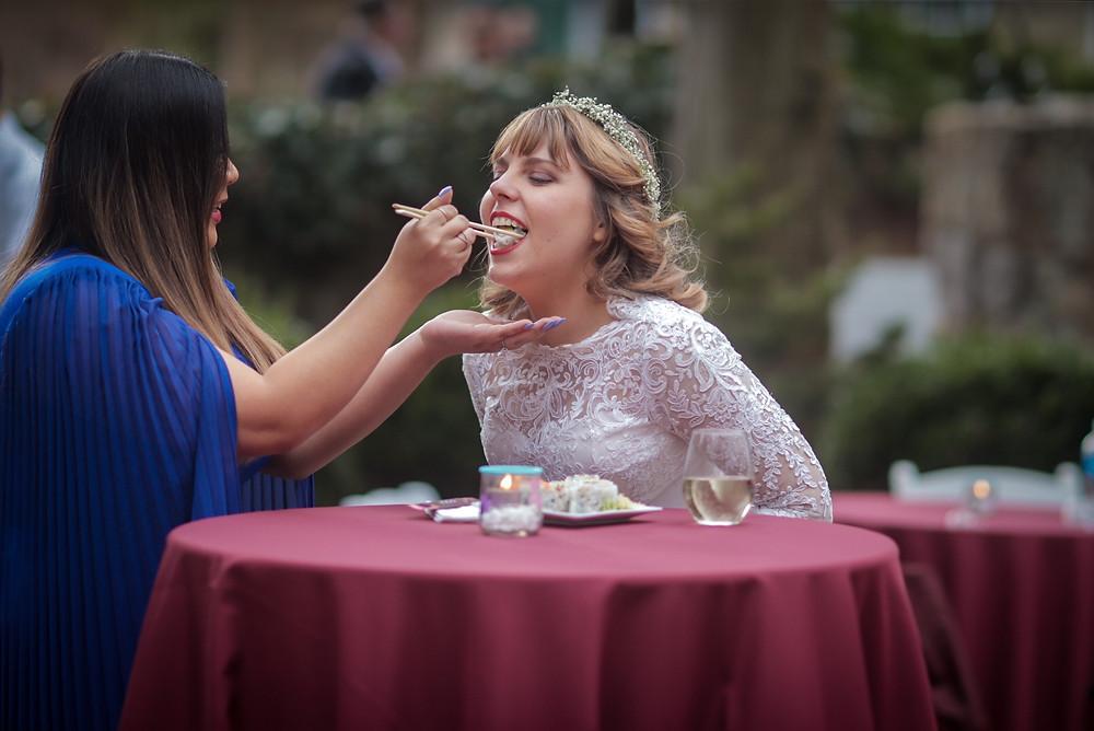 One Year Wedding Anniversary: A Look Back at Our 2020 Wedding Day - covid wedding - amanda macgregor joseph centineo - sushi