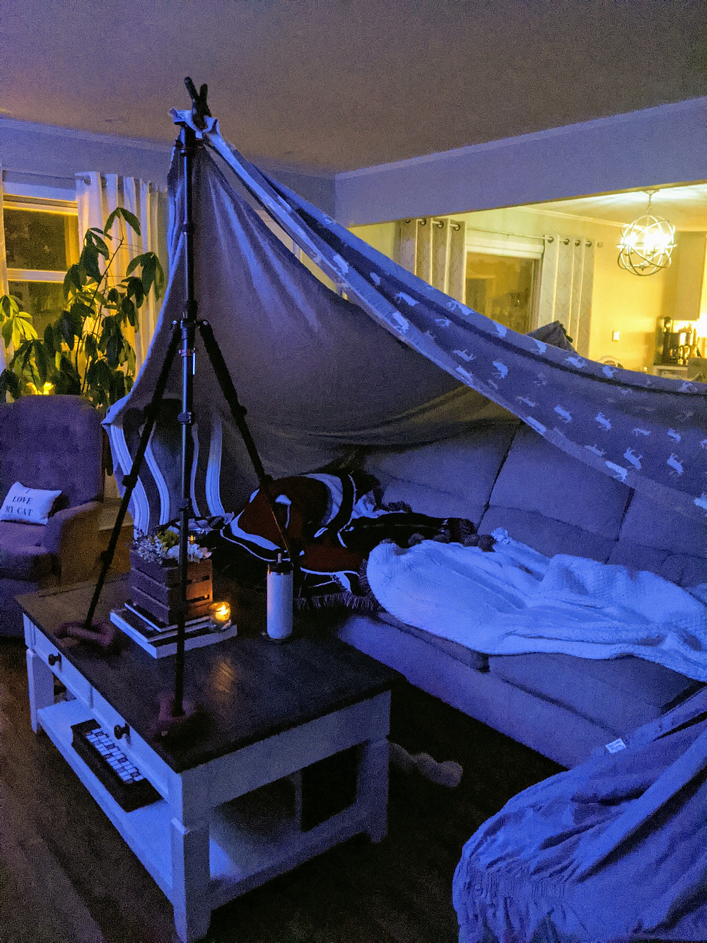 indoor camping date - Our At-Home Date Night Game - Amanda MacGregor - joseph centineo