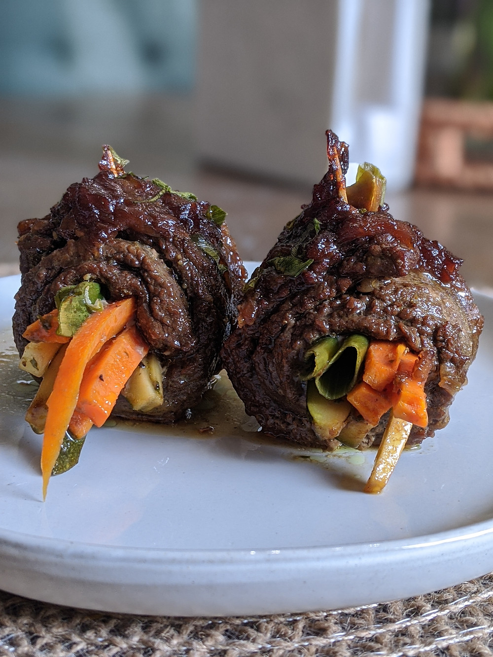 Balsamic grass-fed Steak and Veggie Roll-Ups - The Sunday Cookbook - Food allergy recipes - pampered chef - amanda macgregor centineo - food allergy recipes