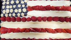 Amanda and Joe's Fourth of July American Flag Sheet Cake