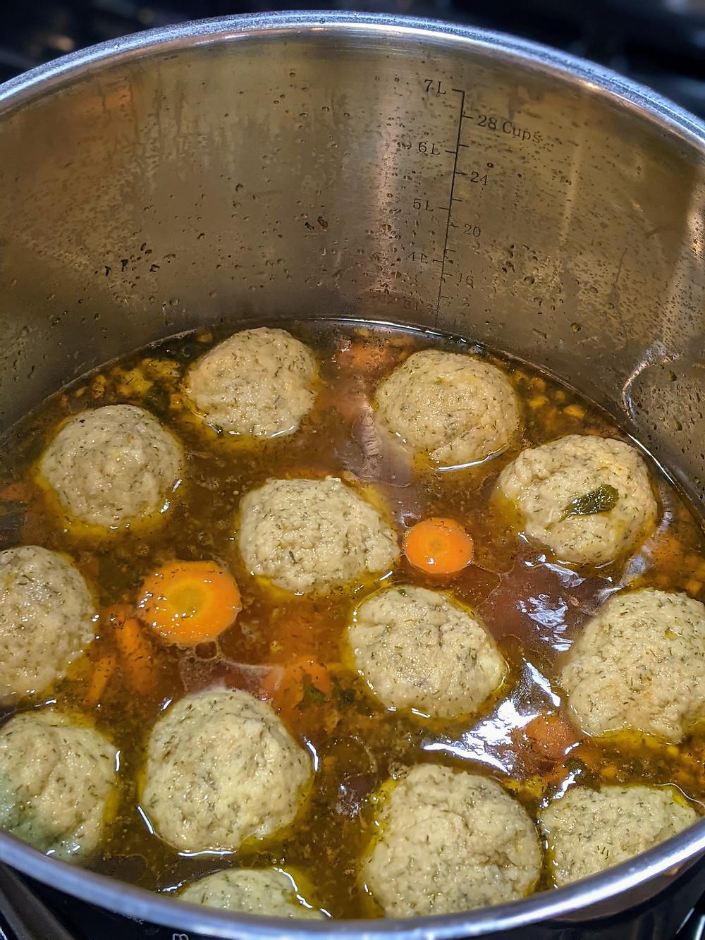 Homemade Gluten-Free Matzo Ball Soup - amanda macgregor centineo - food allergy recipes