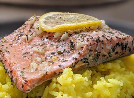 Salmon with Lemon Garlic Herb Seasoning