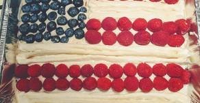 American Flag Sheet Cake