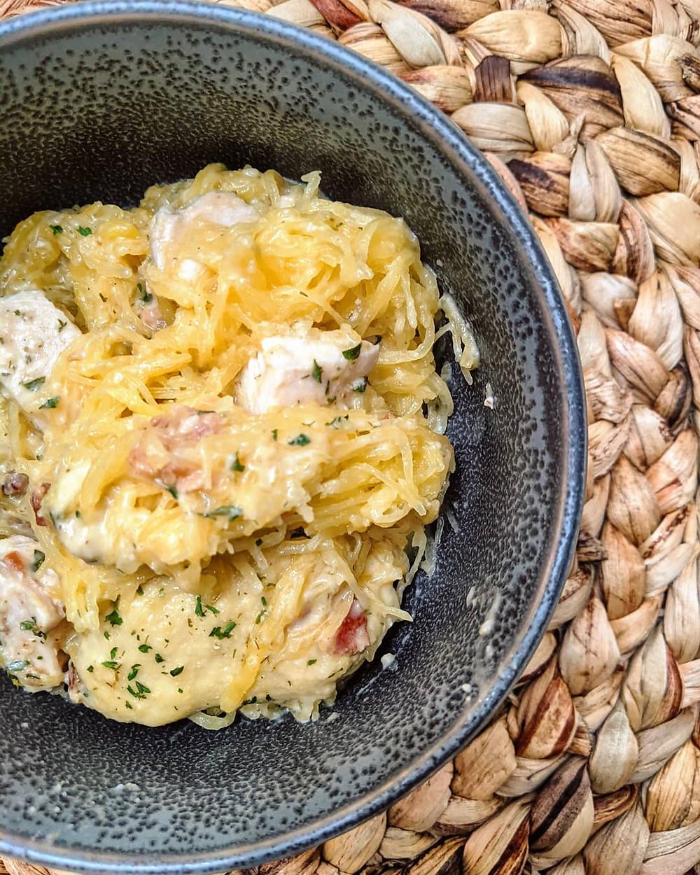 The Sunday Cookbook - Chicken Bacon Ranch Spaghetti Squash - Joseph Centineo - food allergy recipes