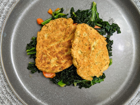 Easy Chickpea Patties over Veggies