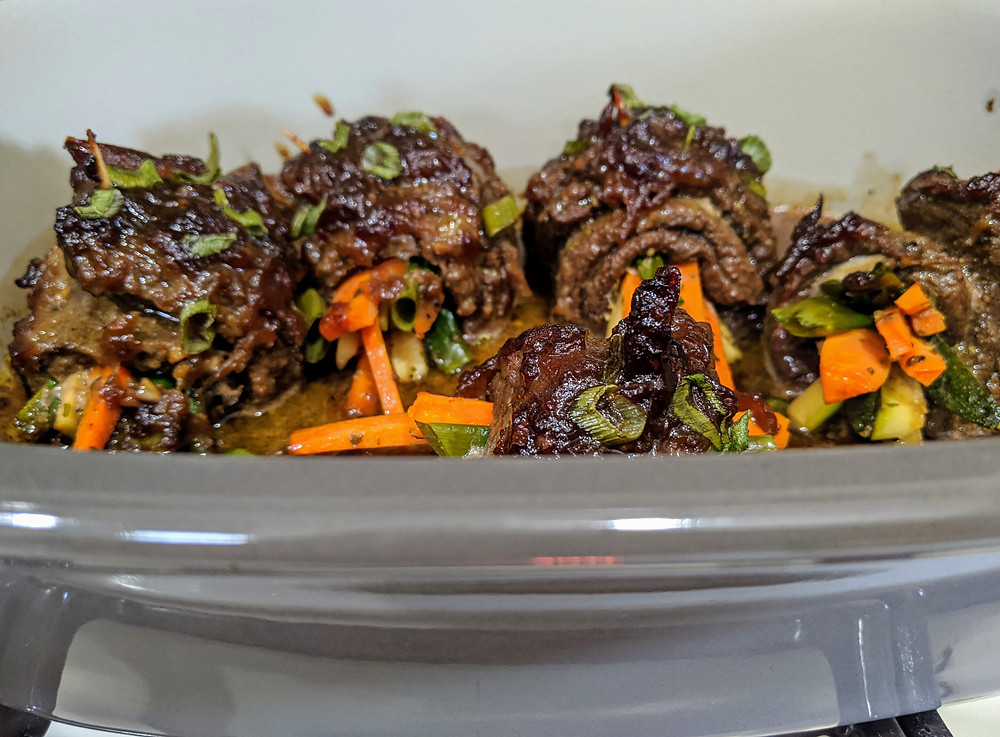 Balsamic grass-fed Steak and Veggie Roll-Ups - The Sunday Cookbook - Food allergy recipes - pampered chef - amanda macgregor centineo