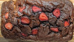 Chocolate Covered Strawberry Banana Bread