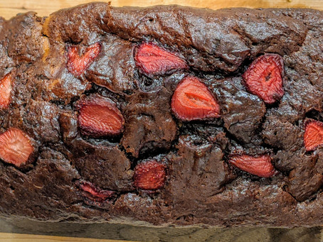 Chocolate Covered Strawberry Banana Bread