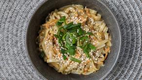 Pad Thai Noddle with Peanut Sauce Recipe, including a Sunbutter Alternative