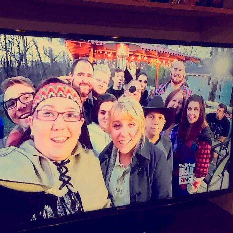 Our 'The Walking Dead' LG V10 Fan Viewing Party Featured on The Talking Dead - amanda macgregor centineo morace