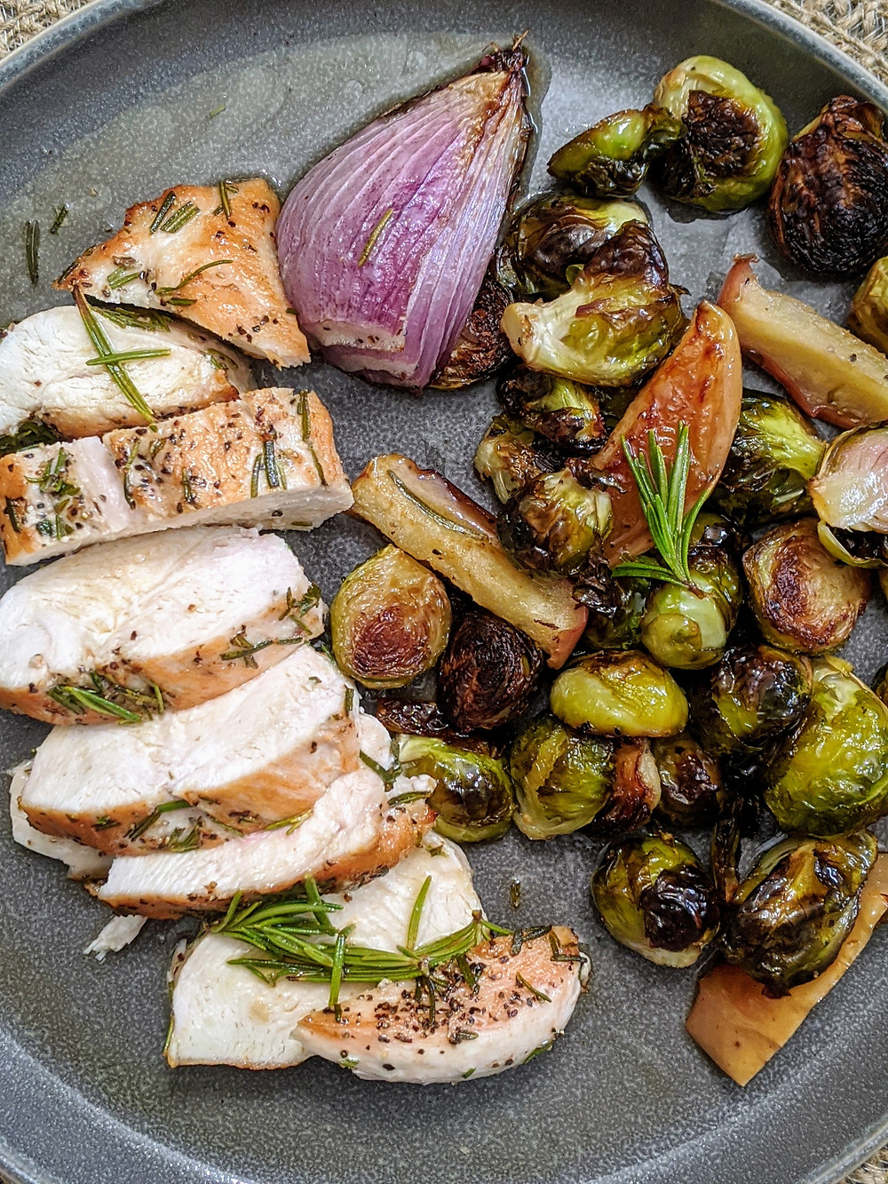 Chicken and Brussels Sprouts with an Apple Cider Sauce - Joseph Centineo - Amanda MacGregor - Food Allergy recipes