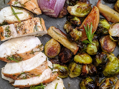 Chicken and Brussels Sprouts with an Apple Cider Sauce