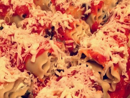 The Sunday Cookbook: Spinach Lasagna Roll-Ups