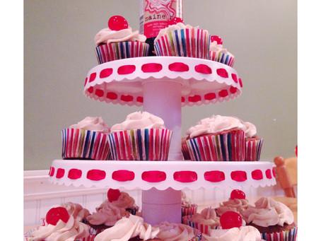 Cherry Vanilla Cola Cupcakes