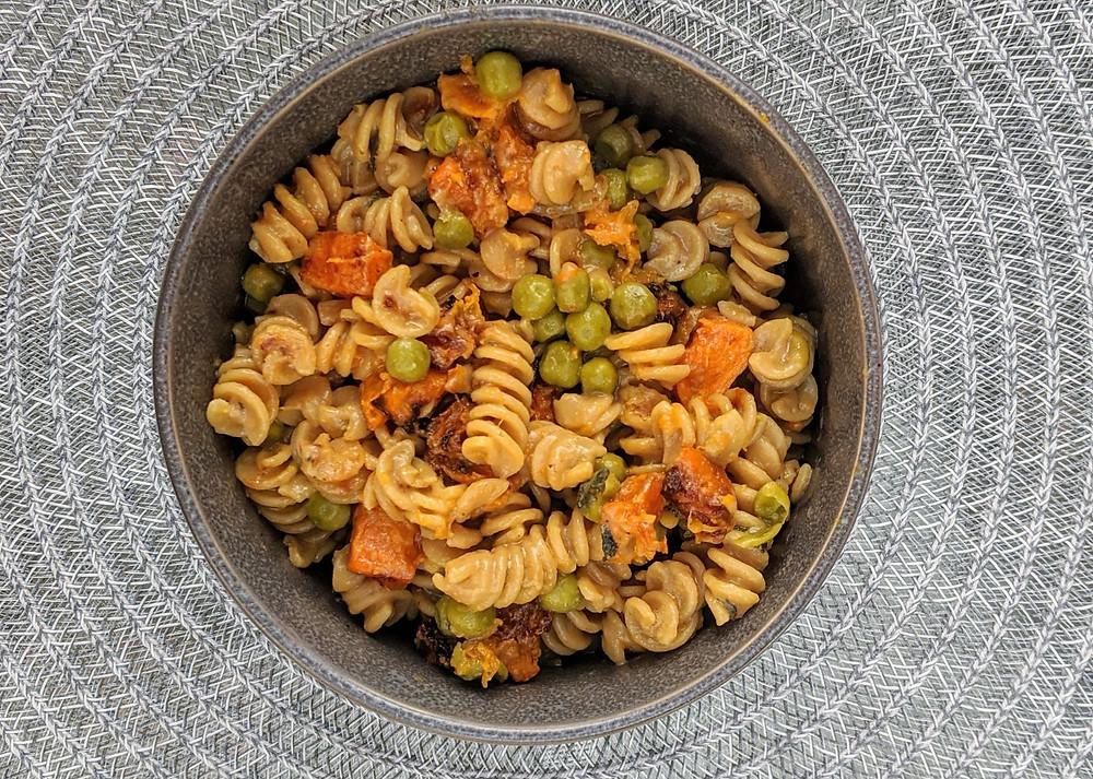 Vegan Creamy Butternut Squash Pasta with Peas and Sage - Amanda MacGregor - Food allergy recipes