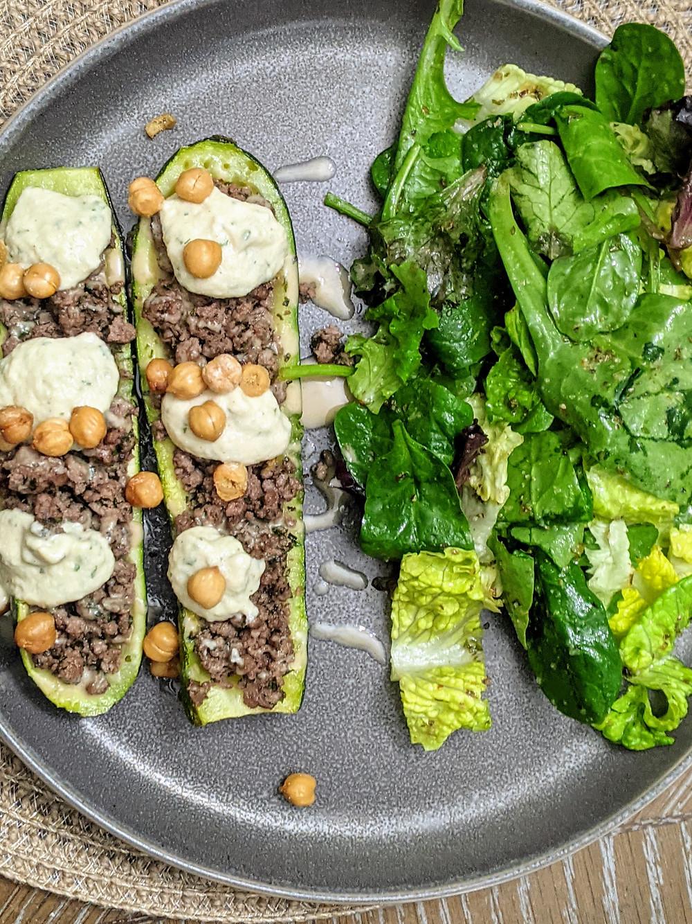 Mediterranean-Inspired Zucchini Taco Boats - amanda macgregor - joseph centineo - food allergy recipes