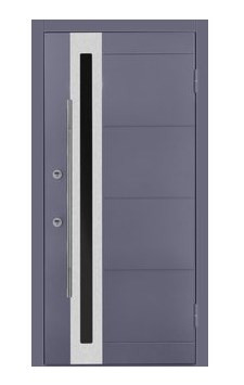 Nova Inox S2 Grey Exterior Door