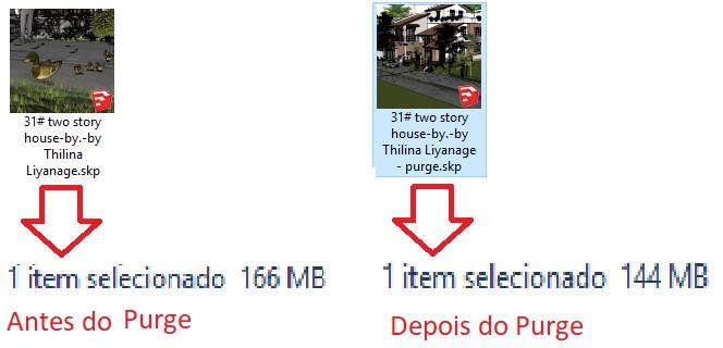 Imagem comprando tamanho de arquivos