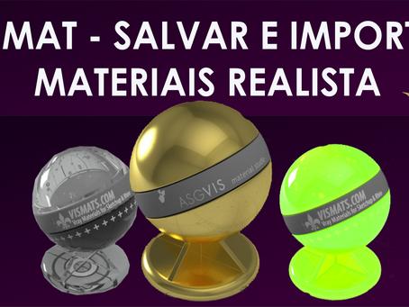 [AULA VRAY] VISMAT - Como Salvar e Importar Materiais Realistas no Vray