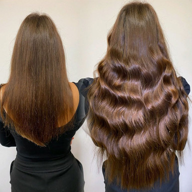 Before and After 150 Strands Ultra Tips