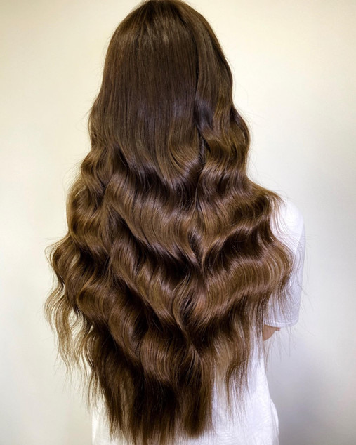 """After 180g Hollywood Weave 22"""""""