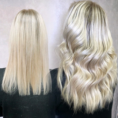 Before and After 100 Strands Ultra Tips