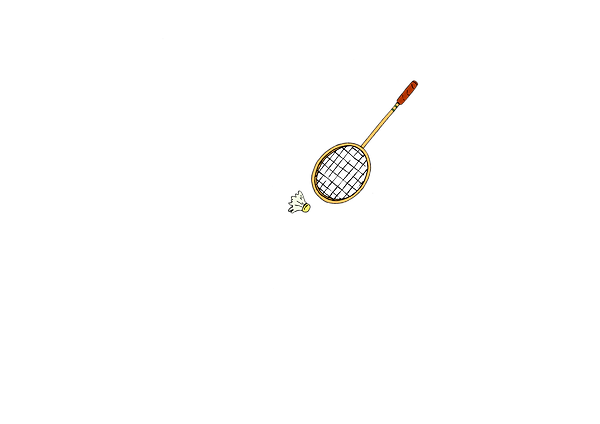 Badminton racket & shuttlecock & sports