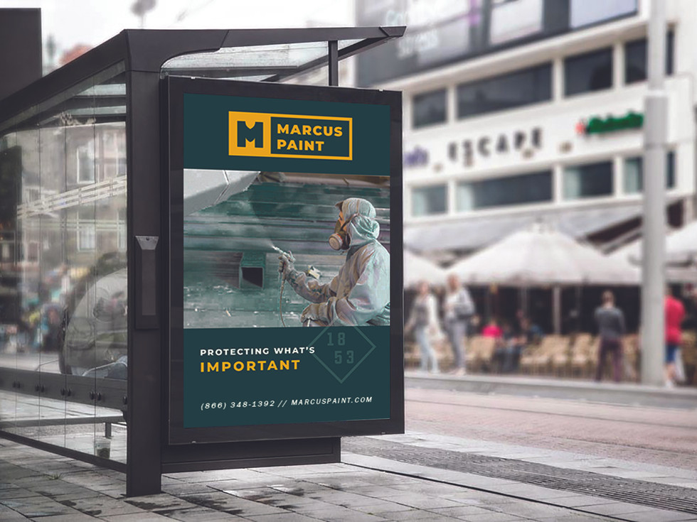 Marcus Paint-bus shelter ad