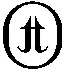 Turning pointe logo concept badge