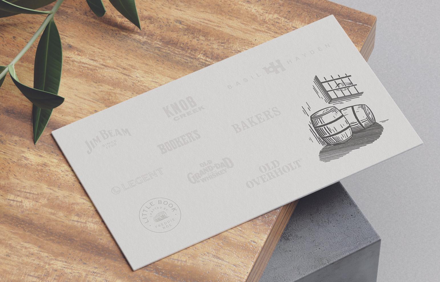 Beam suntory business card back side