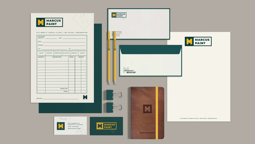 Marcus Paint stationery