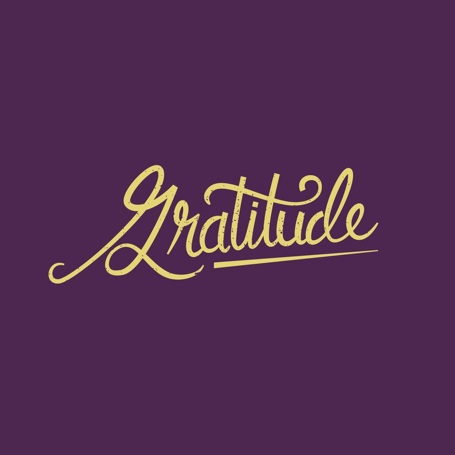 Gratitude hand lettering