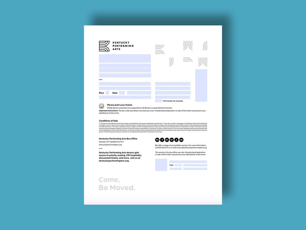 Blank e-ticket