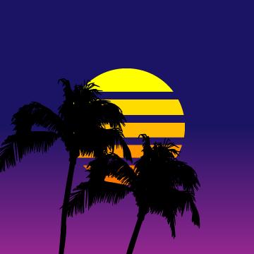 Vaporwave Avatar Background