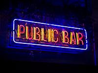bar signage neon