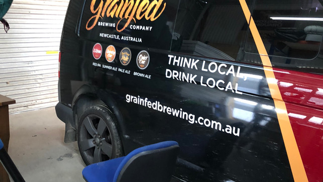 vehicle wrap hotel beer