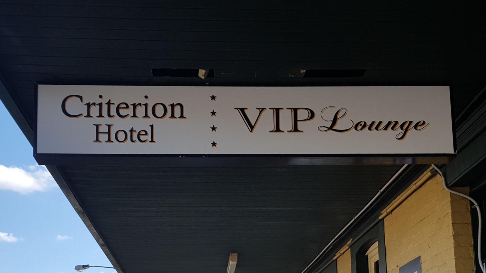 LED lightbox hotel sign